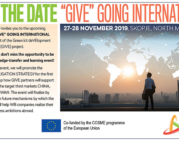 "SAVE THE DATE - ""GIVE"" GOING INTERNATIONAL"