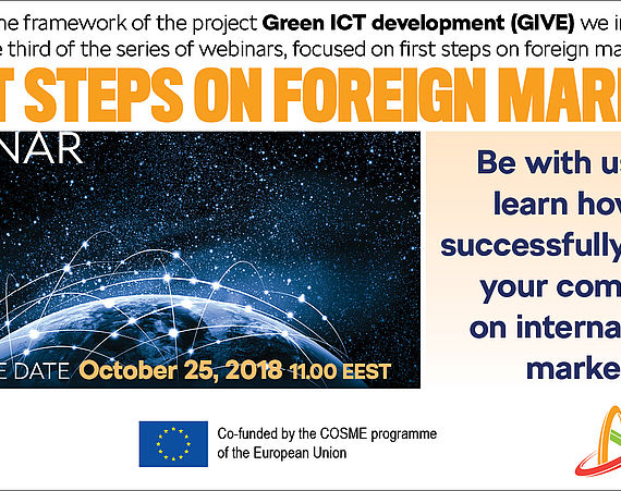 FREE Webinar on First Steps on Foreign Markets on October 25, 2018!